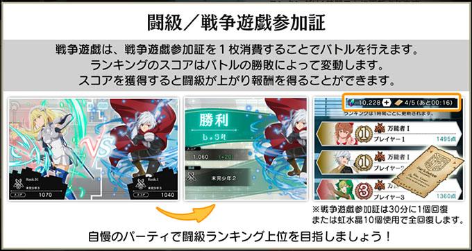 ダンメモ ダンまち アプリ 攻略 第2回戦争遊戯 開催!